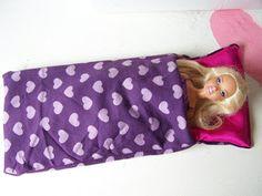 Barbie sleeping bag tutorial