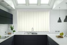 Buy today - White Gloss Textured Rigid PVC Vertical Blinds from only - over off. Ideal for home or office. Huge Windows, Ceiling Windows, Blinds For Windows, Pvc Blinds, Fitted Bedroom Furniture, Made To Measure Blinds, Window Fitting, West Bromwich, Make Design