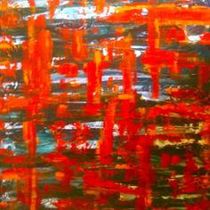 'Parallel Temples' by Andrew Pickering. Original artwork for sale on ArtInvesta www.artinvesta.com/sec_offer/389 to make an offer directly to the artist. See more on Andrews gallery page http://www.artinvesta.com/artist/95 orange, bold, acrylic, painting, art, original art, large, contemporary, spiritual