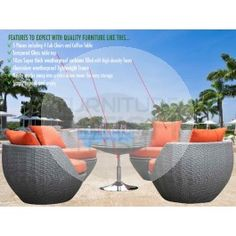 Outdoor Lounge 5pce Stacking Tower   Rattan Wicker Furniture Part 63