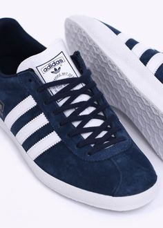 80424f49c98 Buy Gazelle OG Trainers - Dark Indigo   Running White by adidas Originals  Footwear from our Triads Mens range - Blue
