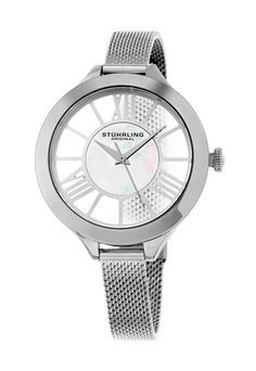 Shop for Stuhrling Original Women's Winchester Quartz Stainless Steel Mesh Band Watch. Get free delivery On EVERYTHING* Overstock - Your Online Watches Store! Get in rewards with Club O! Mesh Bracelet, Bracelet Watch, Bracelets, Stylish Watches, Cool Watches, Wrist Watches, Winchester, Best Watch Brands, Mesh Band
