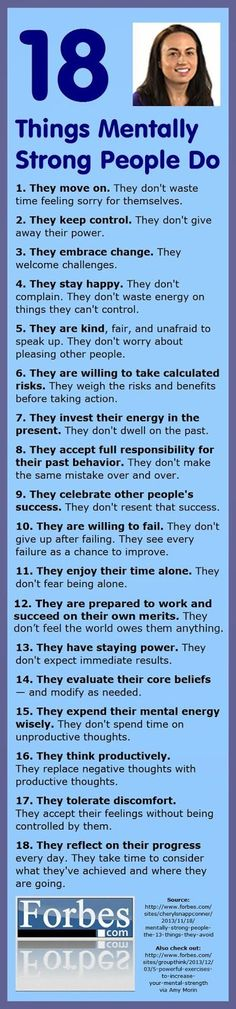 18 things mentally strong people do...