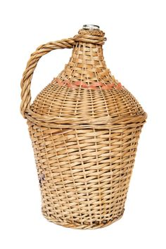Glass bottle in wicker from Hungary my grandfather use to make this
