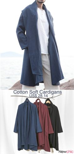 d0c6ce88d75  Get Now Chinese Style Mid-long Long Sleeve Jacket Cotton Solid Color Casual
