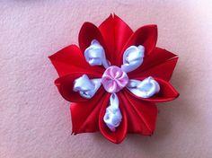 DIY Ribbon Flower: How to make satin fabric flower