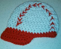 Baseball Crochet Baby Beanie by kimerin13