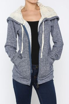 Catch a Wave Lace Marled Hoodie – Moonshine & Lace