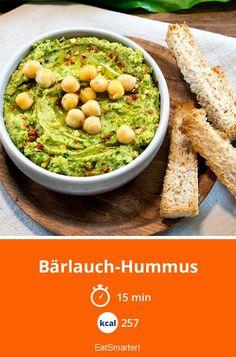 Bärlauch-Hummus - smarter - Kalorien: 257 kcal - Zeit: 15 Min. | eatsmarter.de
