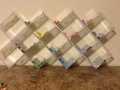 CD Jewel cases and a little super glue make great Copic Marker storage. Hang or… CD Jewel cases and a little super glue make great Copic Marker storage. Hang or sit. Marker Storage, Art Storage, Craft Room Storage, Craft Organization, Cd Case Crafts, Cd Crafts, Space Crafts, Cd Diy, Ideias Diy