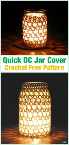 Crochet Quick DC Jar Cover Free Pattern By Annemarie Benthem