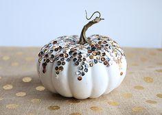 DIY Sequined Pumpkin