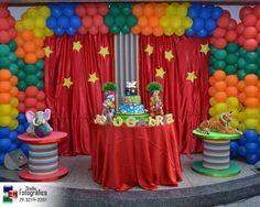 Festa circo Cenário do Bolo