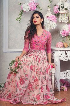 101 best lehenga saree photos by Lehenga Designs, Kurta Designs, Indian Fashion Dresses, Indian Gowns Dresses, Indian Long Gowns, Indian Long Frocks, Stylish Dresses For Girls, Stylish Dress Designs, Long Gown Dress
