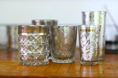 DIY  mercury glass votives