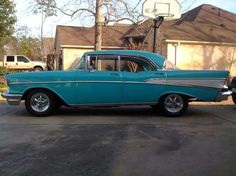 57 Chevy Bel Air side-view