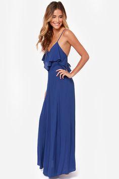 LULUS Exclusive Silent Lagoon Royal Blue Maxi Dress at LuLus.com!  Casamiento bc307a8b92f