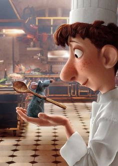Ratatouille. My favorite movie of all time! 1: it's Disney and you are never too old to watch Disney movies. And 2: it involves FOOD!! :)