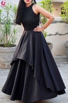 Items similar to black embroidery evening gown on Etsy Items similar to black embroidery evening gown on Etsy Radhika Italia Dresses Description Solid black color padded double nbsp hellip before and after women indian Long Gown Dress, Lehnga Dress, The Dress, Prom Dress, Long Frock, Saree Gown, Indian Wedding Gowns, Indian Gowns Dresses, Evening Dresses