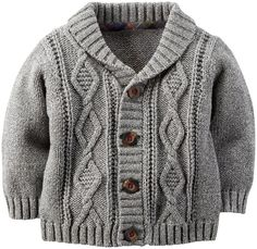 Carter's Baby Boys' Holiday Cardigan (Baby) - Gray - 6 Months