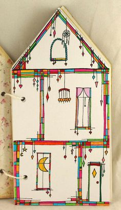 Just found this awesome Zenspirations dangle house by Magdalena Pucia! Can't wait to check out her blog: http://warsztat.pucia.pl/2014/11/21/wyzwanie-blogowe-dzien-piaty/