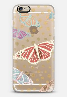 SUMMER BUTTERFLIES - CRYSTAL CLEAR PHONE CASE iPhone 6 case by Nika Martinez | Casetify
