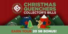 Christmas Quenchers Collector's Bills:   One of my favorite things about using Swagbucks is that I can get rewards for searching the web through their search engine. Every now and then they... ~  http://www.singlemommies.net/2016/12/christmas-quenchers-collectors-bills/