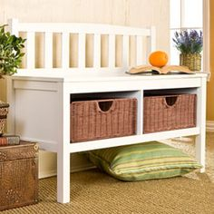 Solutions - Bench with Storage Baskets