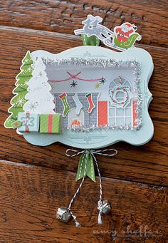 Shadowbox Ornament by Amy Sheffer for Papertrey Ink (September 2015)