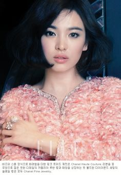 The Style, ELLE Korea, Chanel Haute Couture/Chanel Fine Jewerly. Korean Actress Song Hye Kyo looking fabulous!
