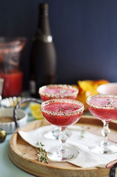 Raspberry Black Pepper Champagne Cocktail | The Candid Appetite