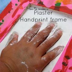 Plaster Handprints for Mom {Presents for Kids to Make}