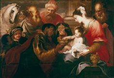 Bartolomeo Biscaino Adoration of the Magi Spain (c. 1650) Oil on Canvas, 124 x 173 cm. Museé de Beaux-Arts, Strasbourg The Image of the Black in Western Art Research Project and Photo Archive, W.E.B. Du Bois Institute for African and African American... Seems asynchronous that Jesus, a middle Eastern Jew is soooo pale. Lovely treatment of the kings.