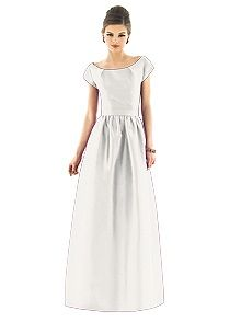 Alfred Sung Style D555    #white/ivory #bridesmaid #dress
