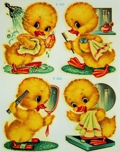 THIS little duck that I once knew, fat ones silly ones just like you, and the one little duck with a feather in his back waddled to his mama with a quack quack quack! /// Just Ducky! Waterslide decals, possibly Vintage Greeting Cards, Vintage Ephemera, Vintage Paper, Vintage Toys, Images Vintage, Vintage Pictures, Baby Kind, Cute Illustration, Vintage Children