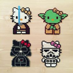 Hello Kitty Star Wars perler beads by mimi_jong