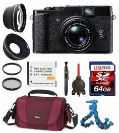 Fujifilm X10 12 MP Digital Camera + Wide Angle + Telephoto Lens + LowePro Case + Battery + Flexpod + Filter Kit + 64GB SDXC (10) Deluxe Bundle by Fuji. $699.00 Digital Cameras, Wide Angle, Fujifilm, Lens, Electronics, Filter, Kit, Still Camera, Digital Camera
