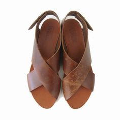 SUMMER SALE, Brown Crossed Women sandals ($140.00) - Svpply