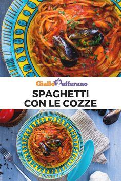 Gli SPAGHETTI CON LE COZZE sono un primo piatto di pesce dall'irresistibile condimento a base di pomodoro.  #giallozafferano #spaghetti #pasta #cozze #mussels #primi #primipiatti #pesce #ricettefacili #ricetteveloci #easyrecipes #italianrecipes  [Spaghetti with mussels] Gnocchi, Meal Prep, Spaghetti, Curry, Food Porn, Pasta, Meals, Cooking, Ethnic Recipes