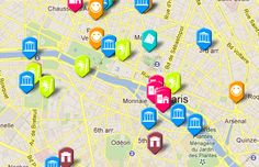 interactive tourist map of paris paris sites included