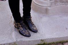 Chiara Ferragni: Chloé Susanna studded leather boots