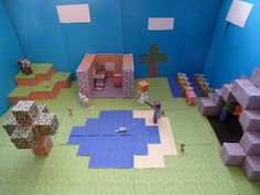 Papercraft My Minecraft Papercraft scene for the contest by louski4