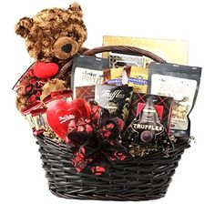 This Valentine's Day gift basket will certainly be difficult to top next year! Ghirardelli Chocolate Squares, Chocolate Toffee, Chocolate Truffles, Chocolate Chip Cookies, Sugar Cookies, French Truffles, Valentine's Day Gift Baskets, Cinnamon Cookies, Apple Cinnamon
