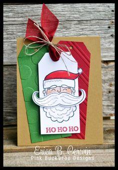 Santa Stache created by Erica Cerwin at Pink Buckaroo Designs