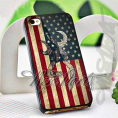 American Browning Deer Flag  iPhone 4/4s/5/5s/5c Case  by 1newport, $14.75