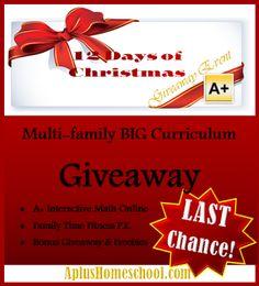 A+ Homeschool : Last Chance: Big Curriculum Giveaway