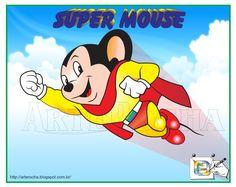 SUPER MOUSE Super Mouse é o nome de um super-herói de desenho animado infantil. A série original foi exibida no cinema e depois na televisão, contava com 76 episódios, produzidos de 11 de fevereiro de 1944 até 31 de dezembro de 1961.  Art in corel draw. Desenho - Ilustração - Illustration - Drawing jearterocha@gmail.com