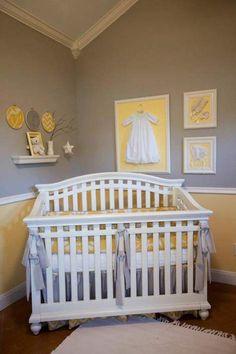 Yellow and grey nursery modern rustic grey & yellow nursery Baby Bedroom, Baby Room Decor, Nursery Room, Girl Nursery, Girl Room, Grey Yellow Nursery, Baby Yellow, Nursery Neutral, Childrens Room