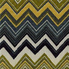 M9399 Amazon Green Chevron Stripe Chenille Upholstery Fabric by Barrow Merrimac