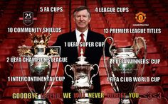 Alex Ferguson - Manchester United - Thank you so much Sir, no words can describe all your 26 years of success with Manchester United Football Accumulator, Premier League, Bet Of The Day, Bryan Robson, Uefa Super Cup, Sports Picks, Sports Handicappers, Sports Betting, Manchester United Players